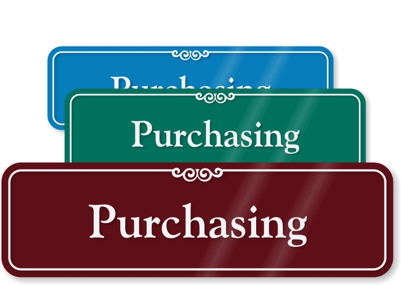 Change in Purchasing Policy