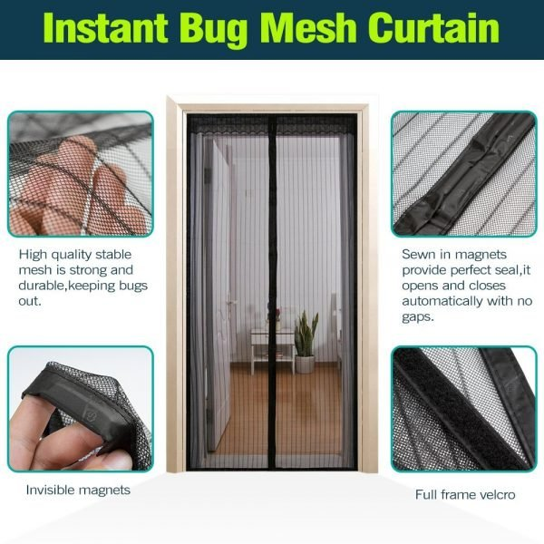 Magic Mesh Hands-Free Screen Door LeelineSourcing
