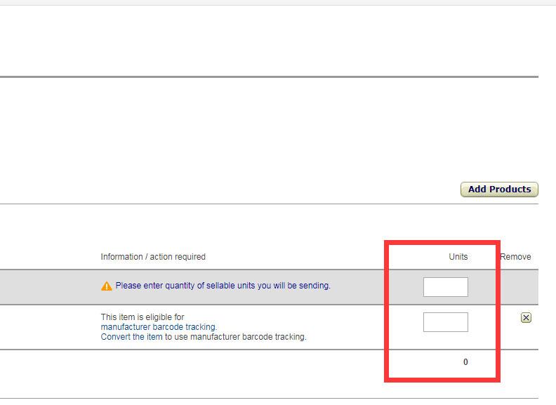 Amazon FBA Plan Set Quantity