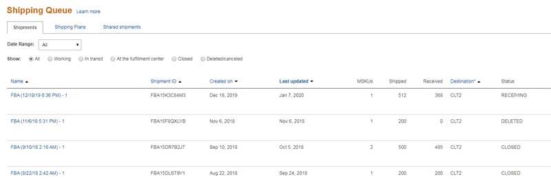 Amazon FBA Shipping-Queue