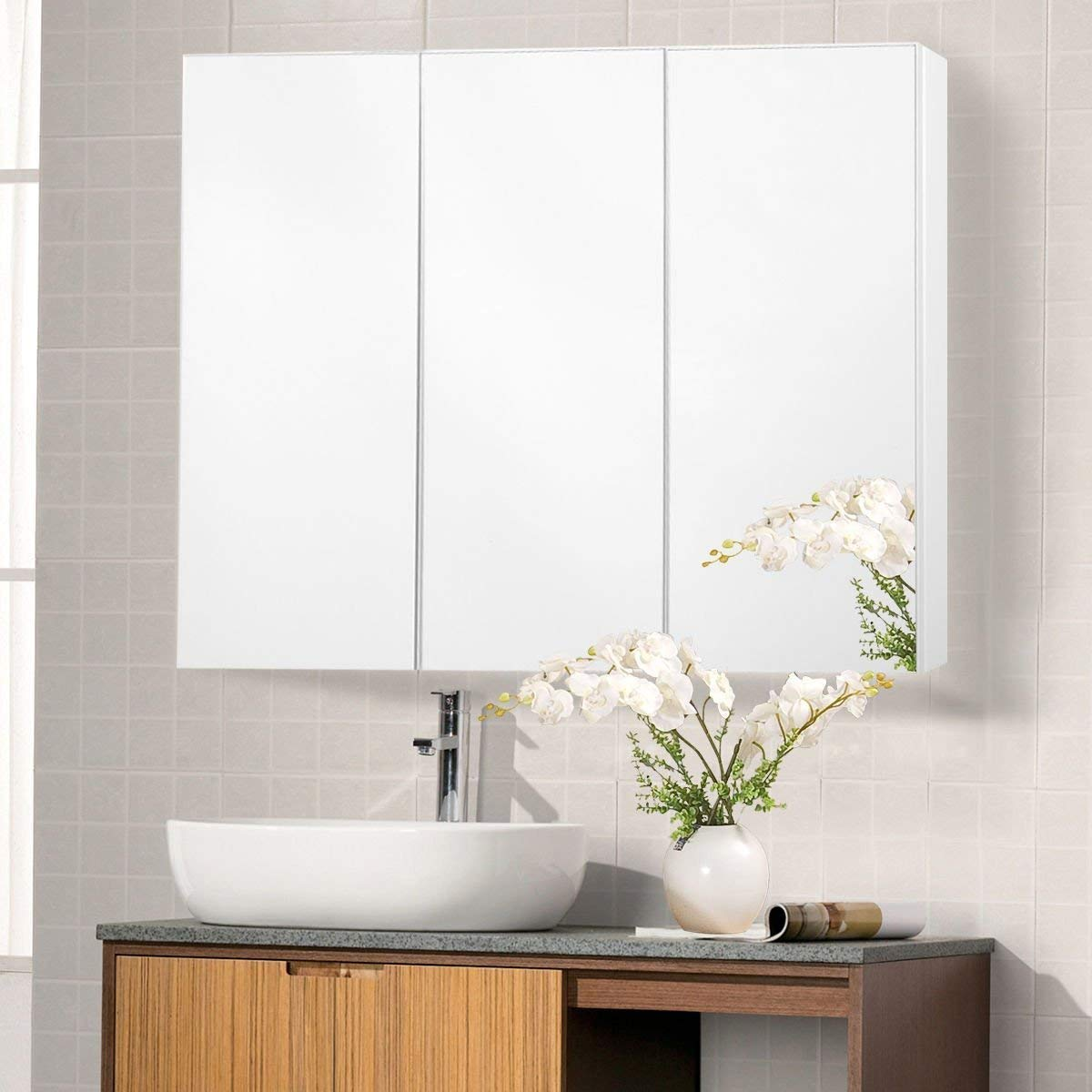 36 Wide Wall Mount Mirrored Bathroom Medicine Cabinet Storage 3 Mirror Door Manufacture Sourcing Agent Services In China
