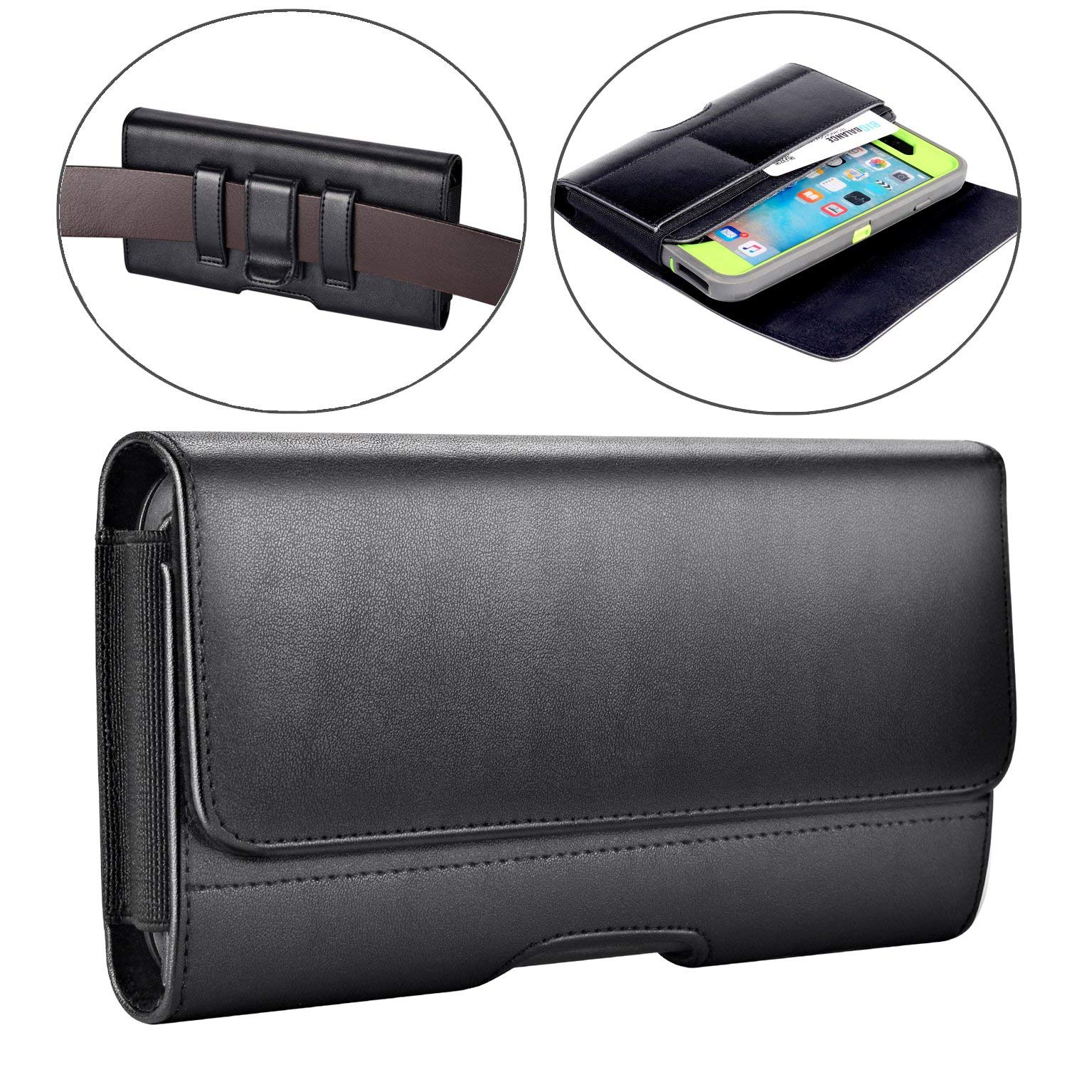 Iphone 8 Plus Holster Iphone 7 Plus Belt Clip Case Leather Holster Pouch Case With Id Card Holder Manufacture Sourcing Agent Services In China