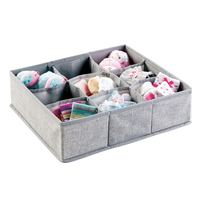 Soft Fabric 9 Section Dresser Drawer And Closet Storage