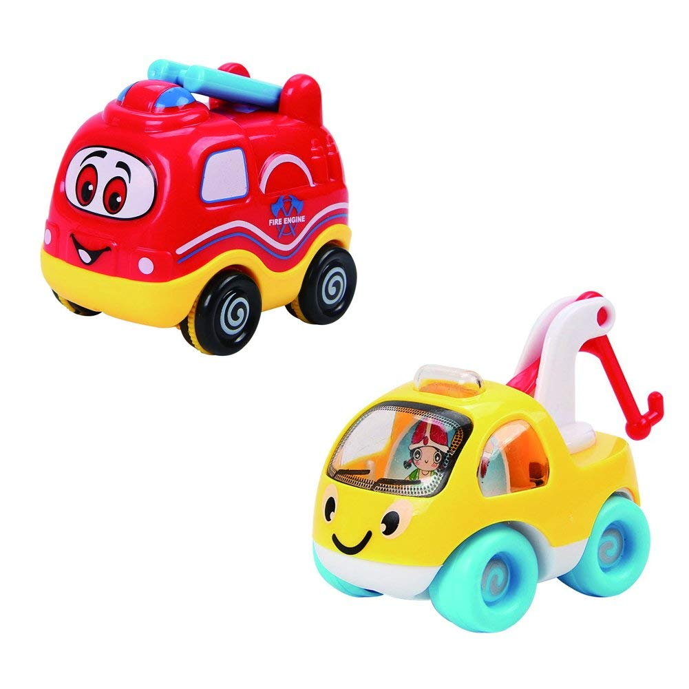 4 Set Kids Vehicles Toy Car Toys And Trucks Play Set For Toddlers