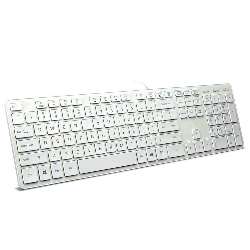wired usb keyboard comfortable quiet chocolate keys durable ultra slim wired computer. Black Bedroom Furniture Sets. Home Design Ideas