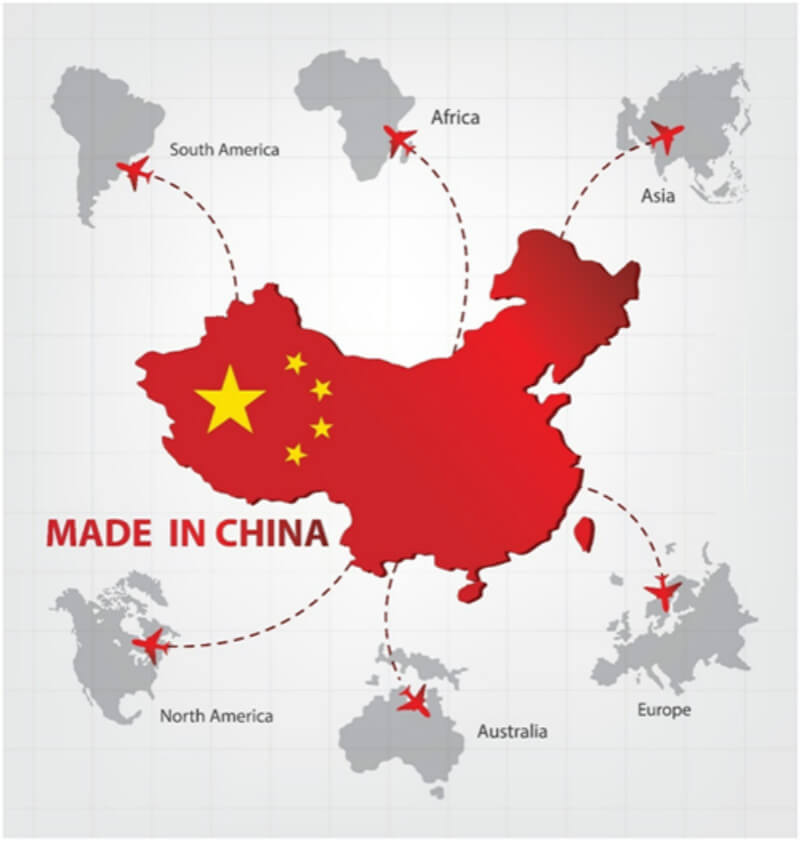 Chinese Map Of America.Chinese Industrial Map Of The Top 7 Most Imported Profitable Goods