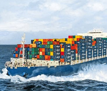 stransport products from China by sea