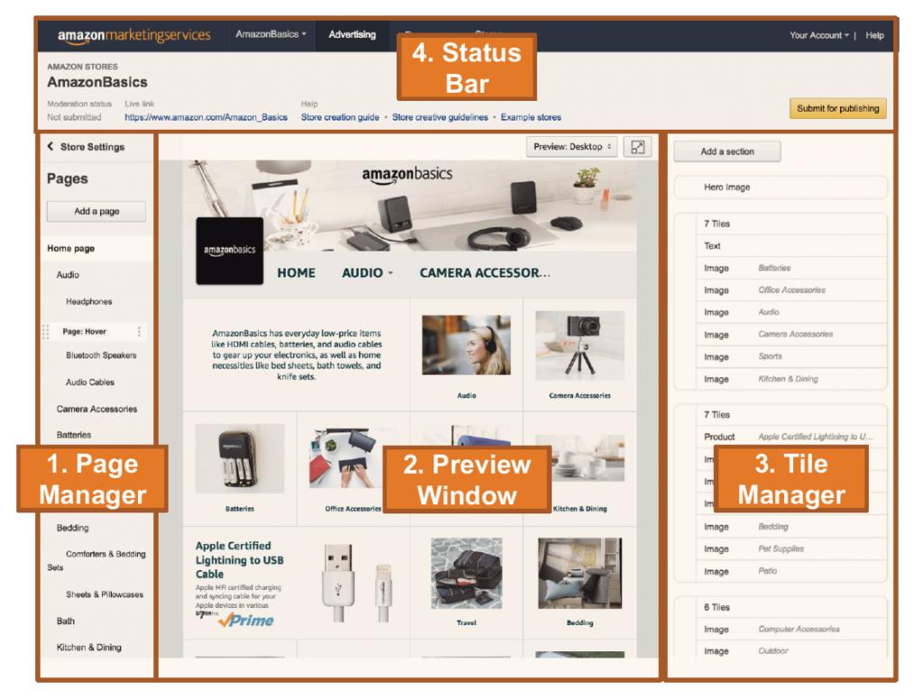 Amazon Store Page