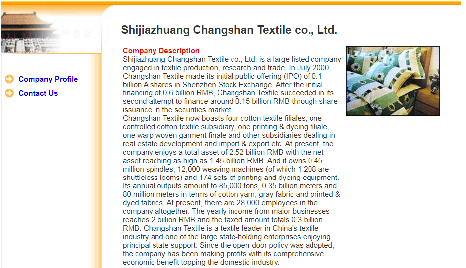 Shijiazhuang Changshan Textile Co., Ltd.