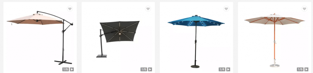 Stationary Parasols