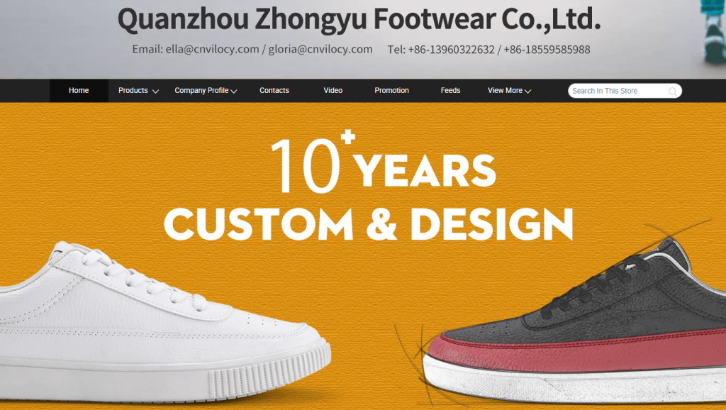 Quanzhou Zhongyu Footwear Co., Ltd