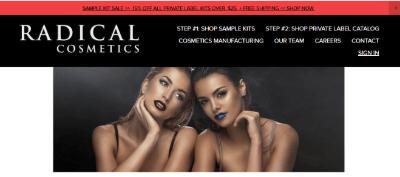 11. Radical Cosmetics Manufacturing company