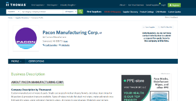 12.Pacon Manufacturing Corporation