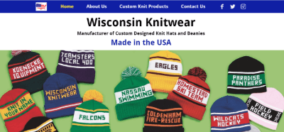 13.Wisconsin Knitwear USA