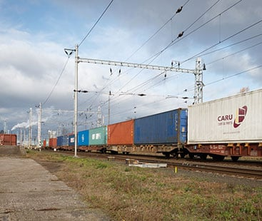 Cosmetics Rail Freight From Shipping