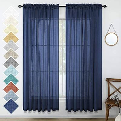 5. Pleated Curtain