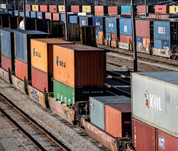 Sandals Rail Freight From Shipping