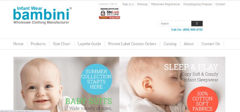 14. Bambini Wholesale Clothing Manufacturer