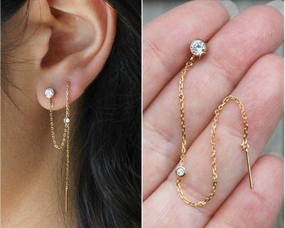 10.Threader Earrings