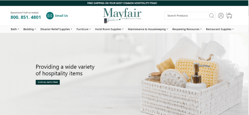 12. Mayfair Hotel and Restaurant Supply