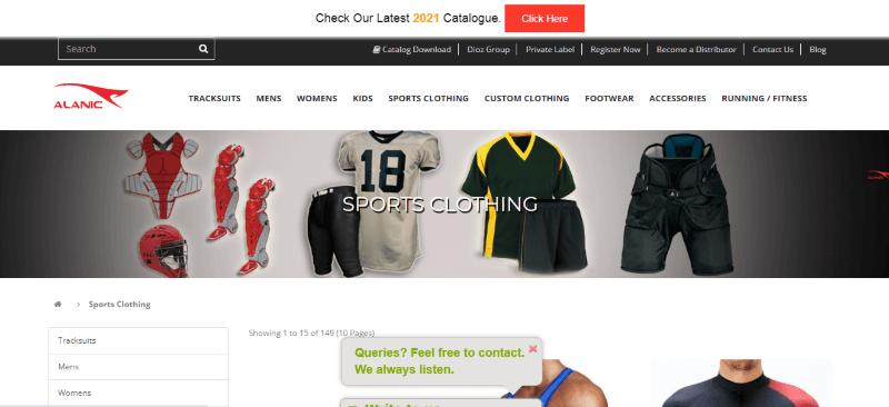 13. Alanic Sports Clothing