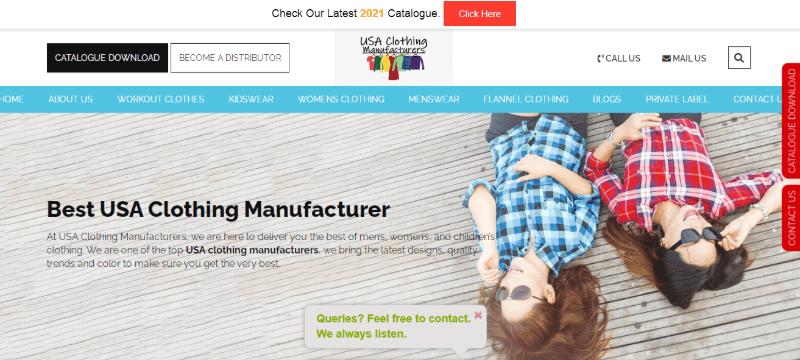 14. USA Clothing Manufacturer
