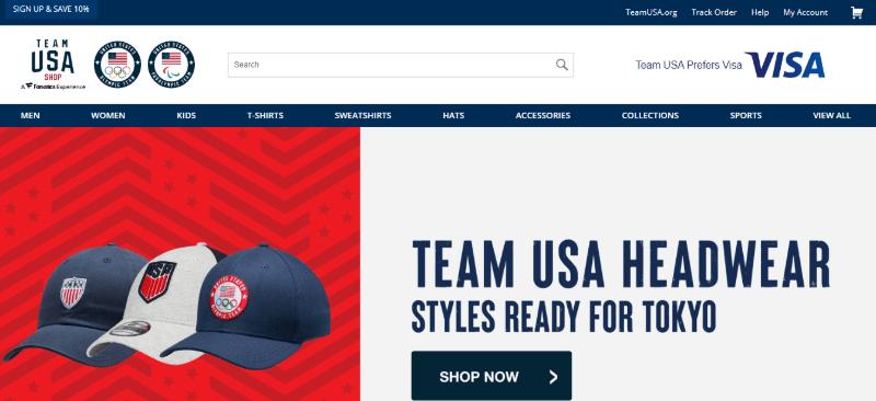 15. Team USA Shop