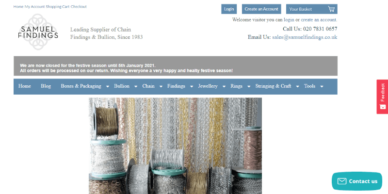 15.Samuel Findings and Jewelers Ltd