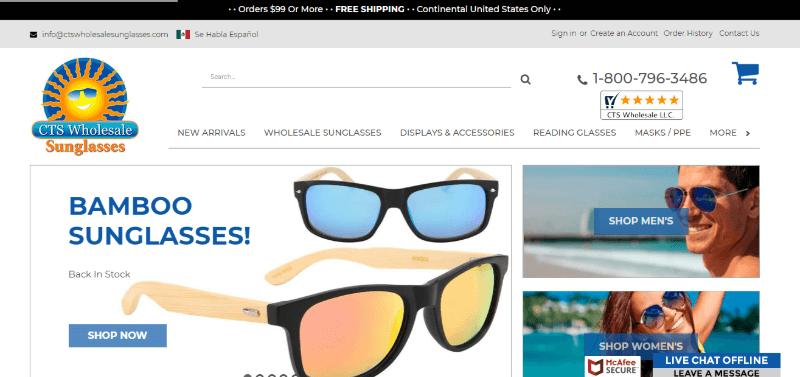 16.CTS Wholesale Sunglasses