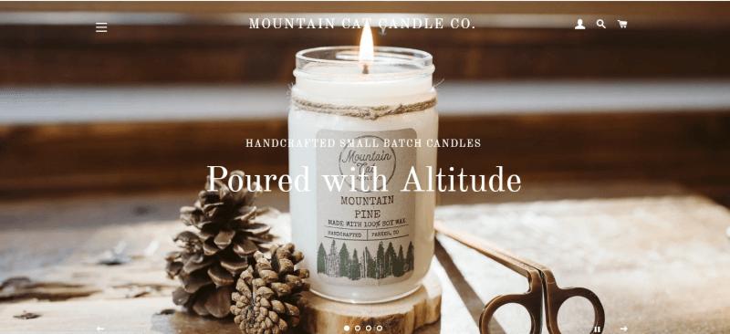 18.Mountain Cat Candle, Colorado