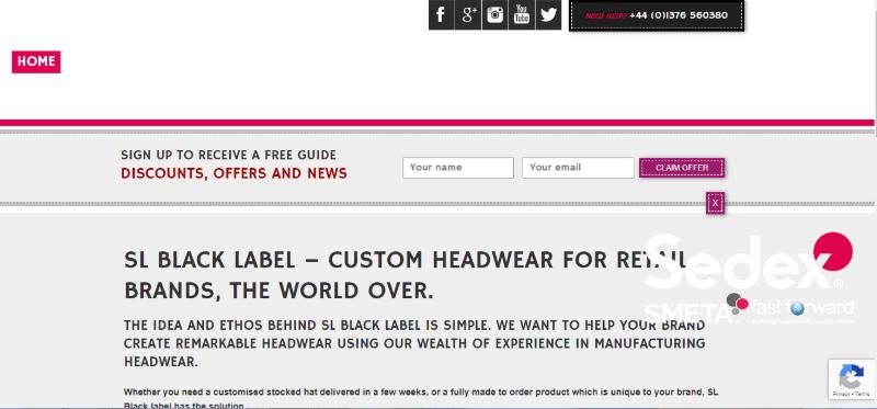 18.SL Black Label-Custom Headwear