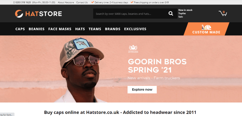 19.Hat Store