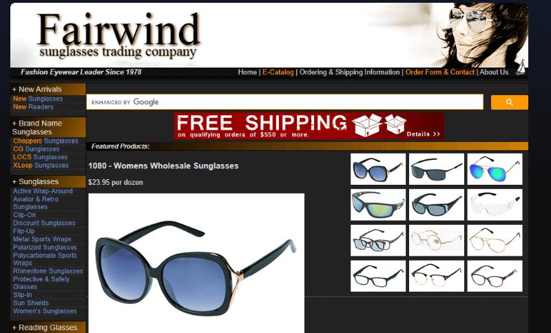 20.Fairwind Sunglasses Trading Company