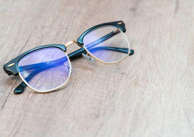 4.Blue-light blocking glasses