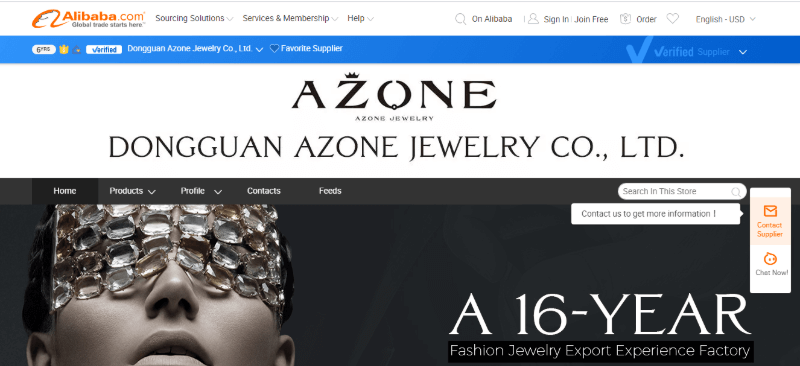 5. Dongguan Azone Jewelry Co., Ltd.