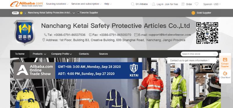 5. Nanchang Ketai Safety Protective Articles Co., Ltd.