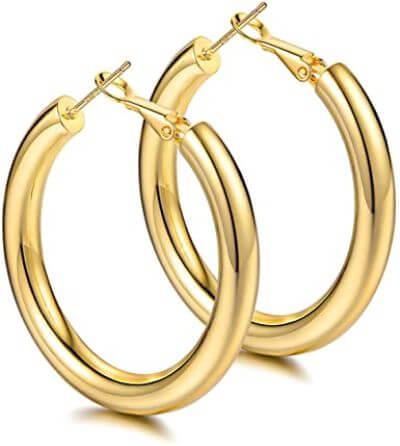 6.Hoop Earrings
