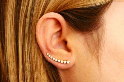 9.Ear Climber Earrings