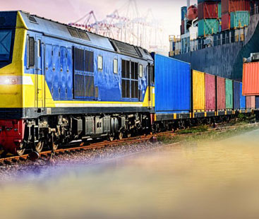 Scarf Supplies Rail Freight From Shipping